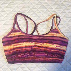 GAIAM Sunset Print Yoga Sports Bra Size Medium